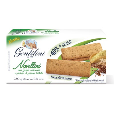 Novellini con grano saraceno e germe di grano tostato 250g