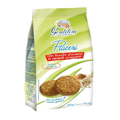 Piaceri con fiocchi d'avena e cereali croccanti 330g